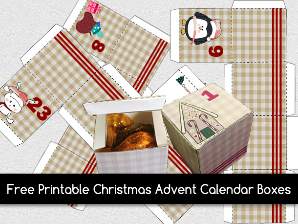Free Printable Christmas Advent Calendar Boxes