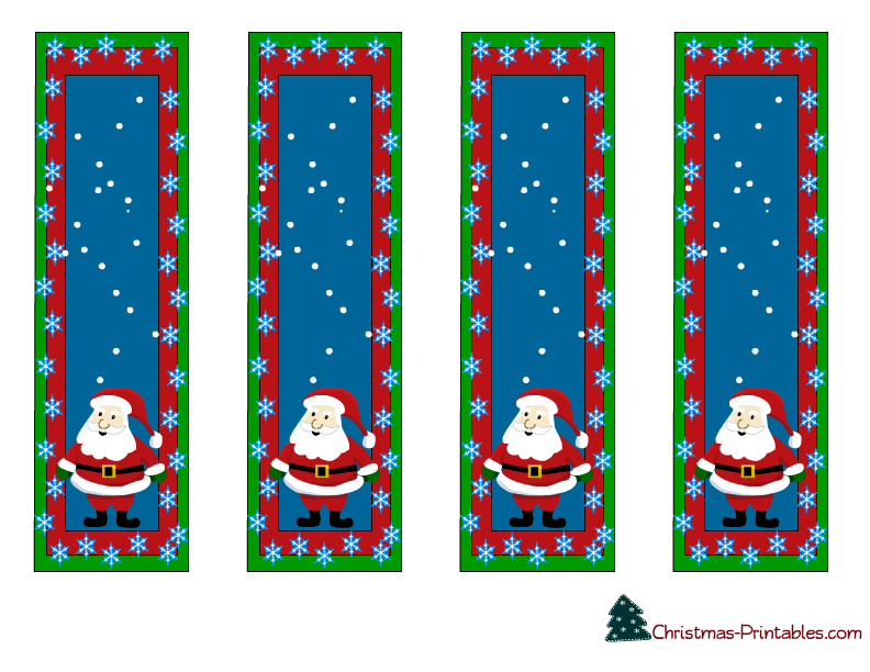 High Quality Free Printable Christmas Bookmarks And Christmas Bookmark Templates