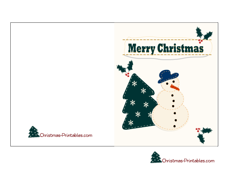 christmas card templates free printable