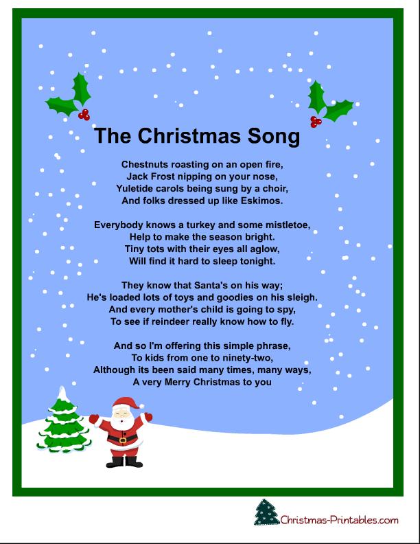 let it snow christmas song lyrics printable - 12 Days Of Christmas Song Lyrics