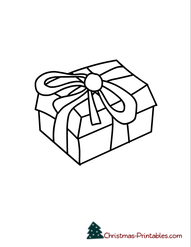 Free Printable Christmas Coloring Page Of Gift