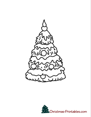 picture regarding Free Printable Christmas Tree identify No cost Printable Xmas Tree Coloring Webpages
