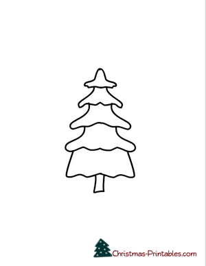 coloring page of christmas tree