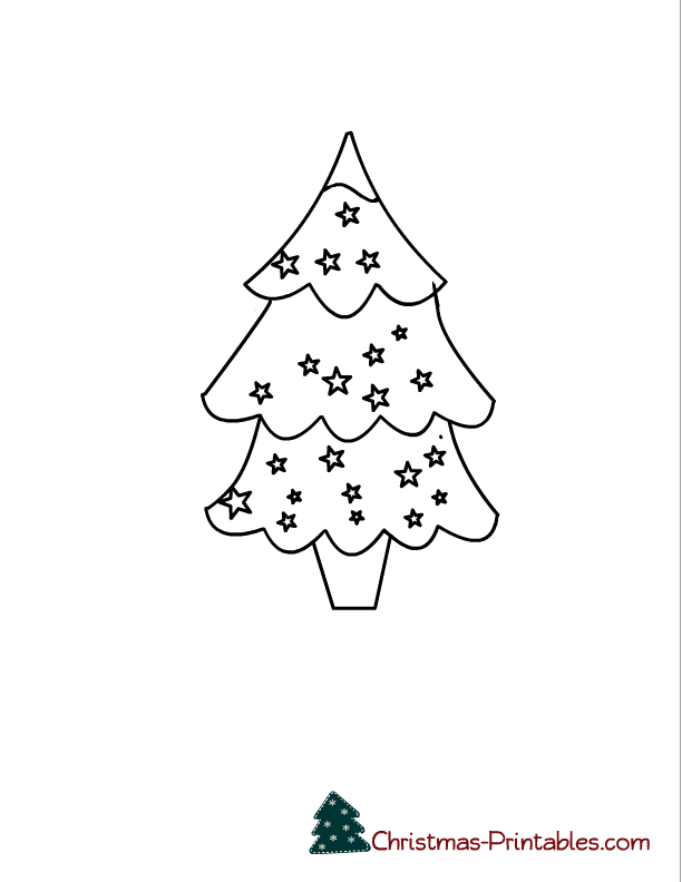Cute Christmas Tree Coloring Page Coloring Pages