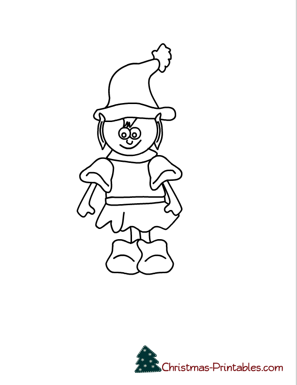 Free Printable Elves Coloring Pages