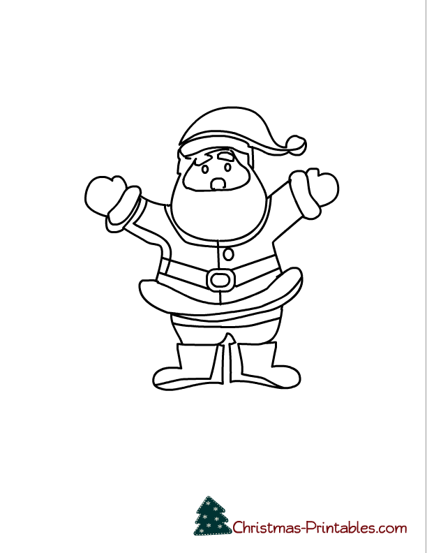 free printable santa coloring pages - Santa Pictures To Color In For Free