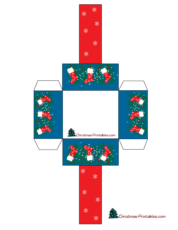is a cute free printable basket decorated with images of Christmas ...