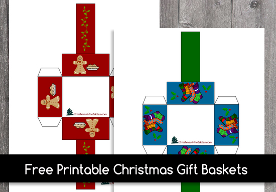 Free Printable Christmas Gift Basket