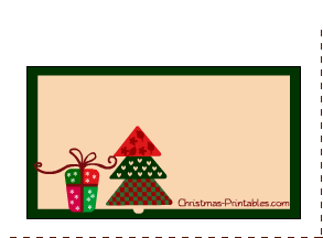 labels for christmas decorated with image of tree and gifts - Decorative Christmas Labels
