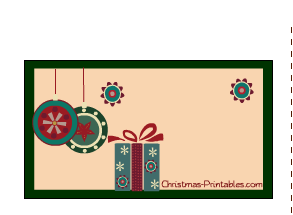 labels with image of gifts and ornaments