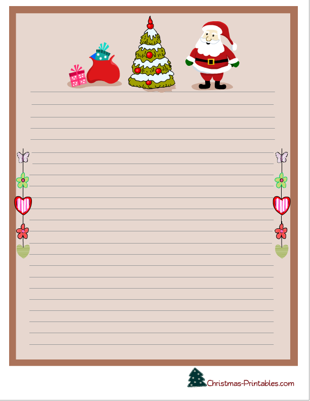 Rare image with free printable christmas letterhead