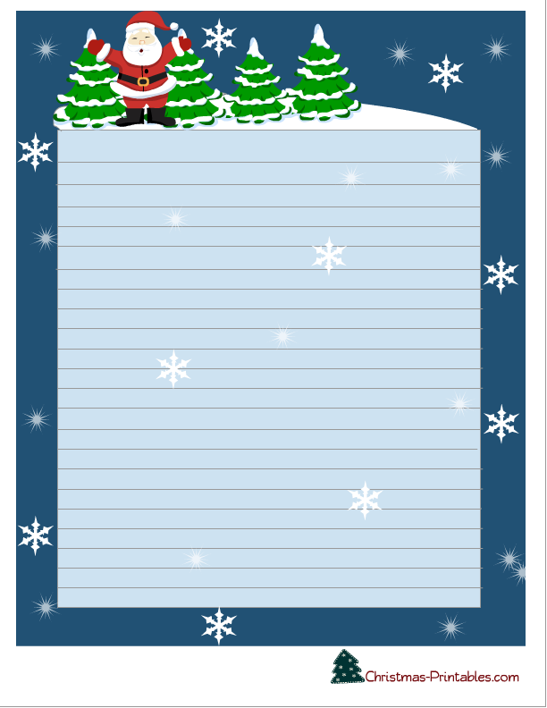 image regarding Printable Christmas Letterhead named Totally free Printable Xmas Stationery