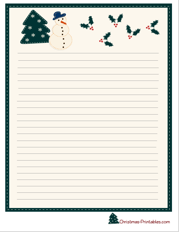 photograph about Printable Christmas Stationery identified as No cost Printable Xmas Stationery