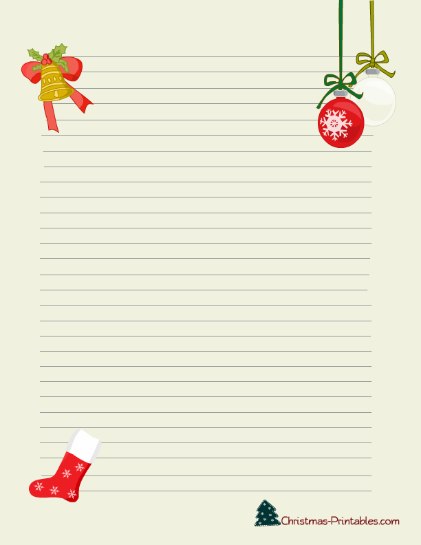 free printable christmas stationery