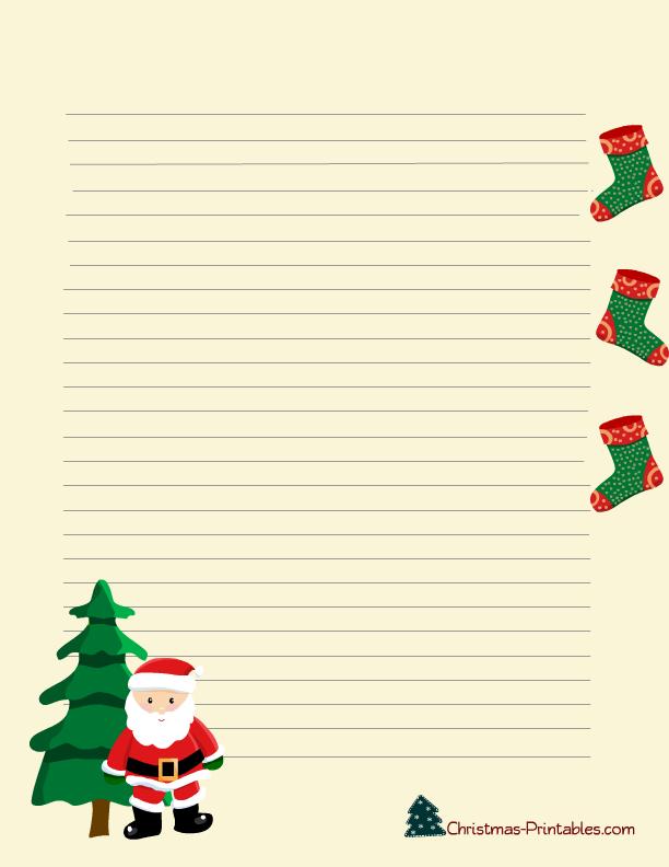 free printable christmas stationery