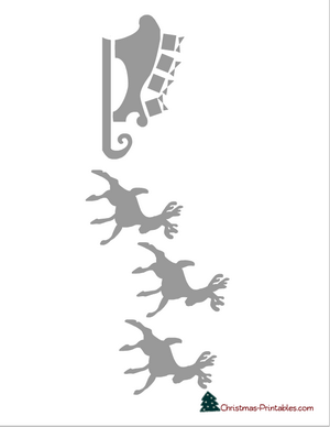 stencil of reindeer and sleigh