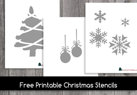graphic relating to Christmas Cutouts Printable named Totally free Printable Xmas Stencils