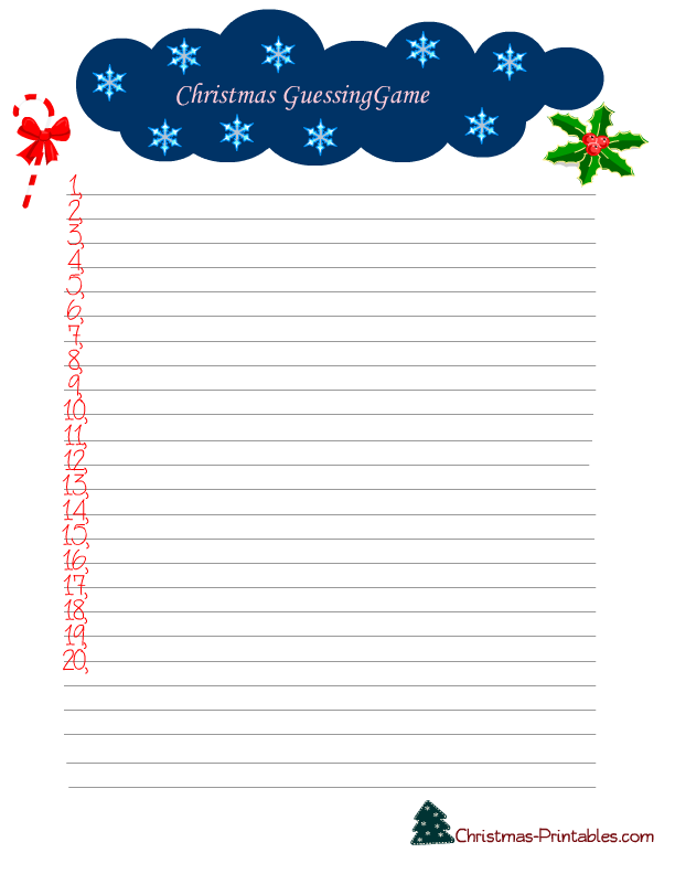 image about Free Printable Christmas Word Games called 7 Absolutely free Printable Xmas Game titles