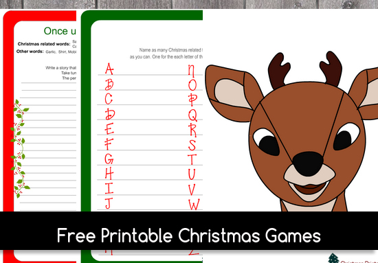 christmas games to print for free
