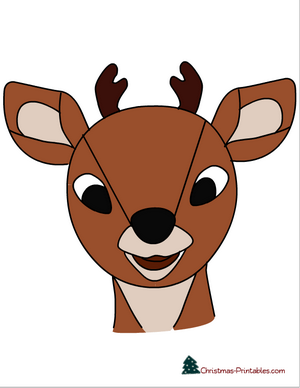 place red nose on rudolph's face printable game
